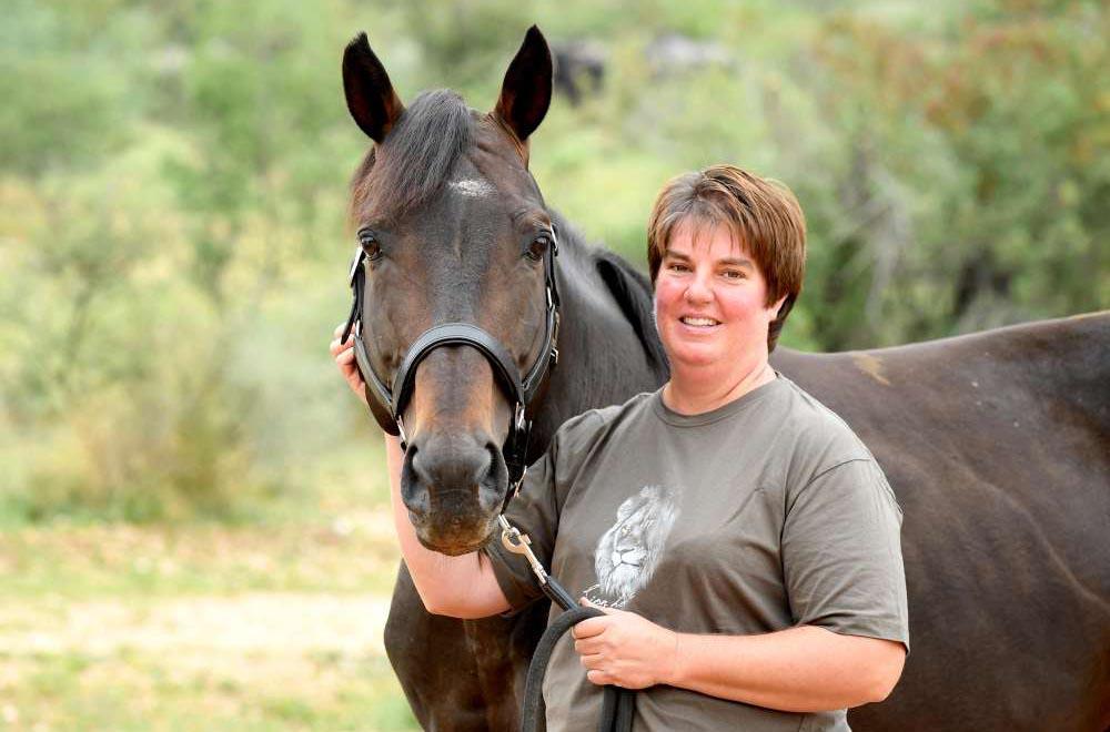 Bianca Braun, owner of Alpha Warmblood Stud